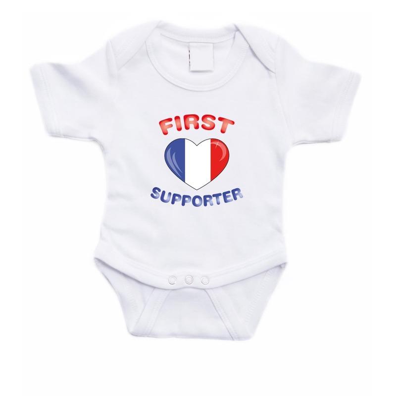 First Frankrijk supporter rompertje baby