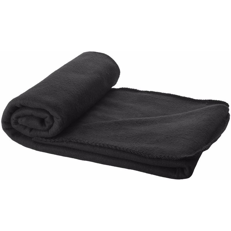 Fleece deken zwart 150 x 120 cm