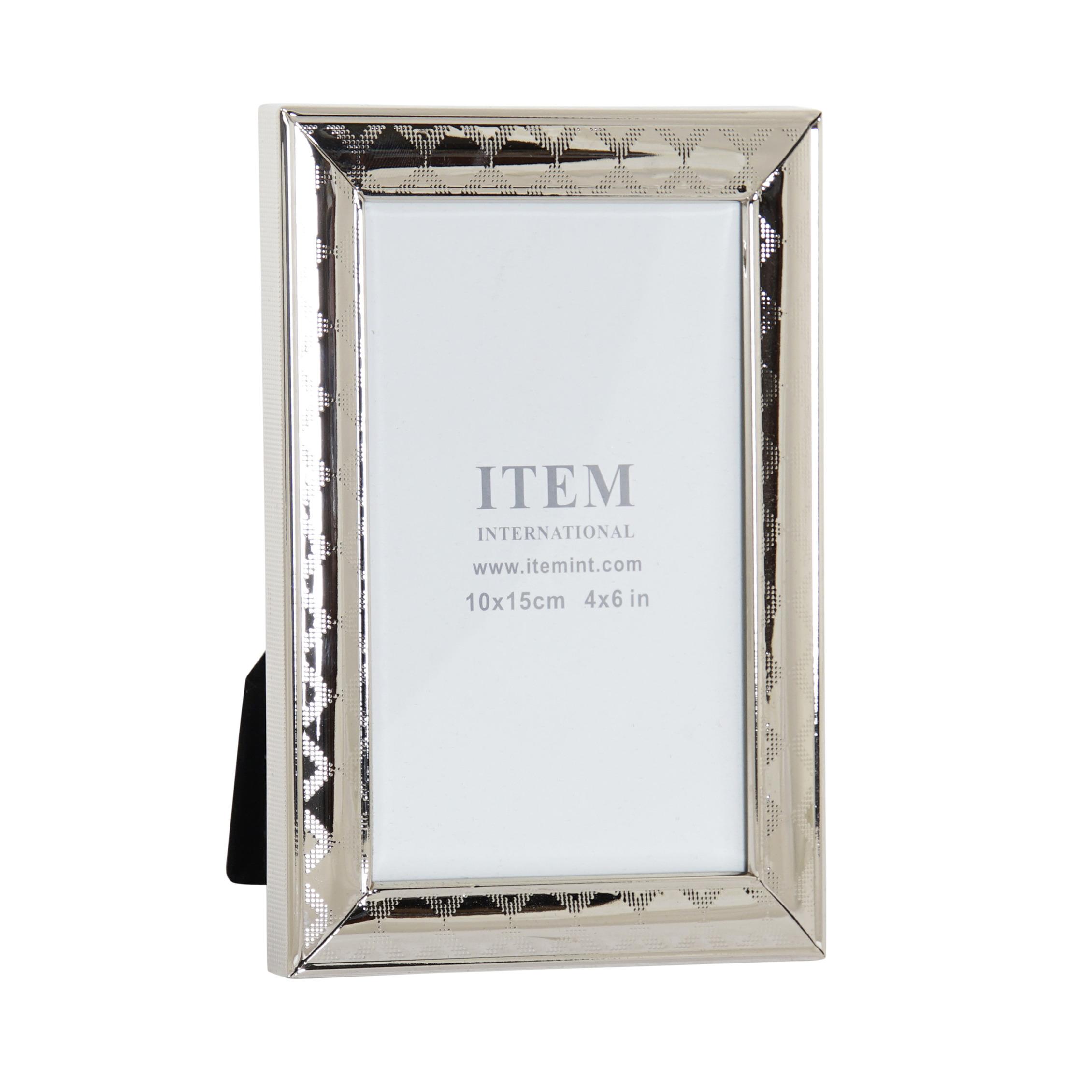 Fotolijstje zilver geschikt voor een foto van 10 x 15 cm