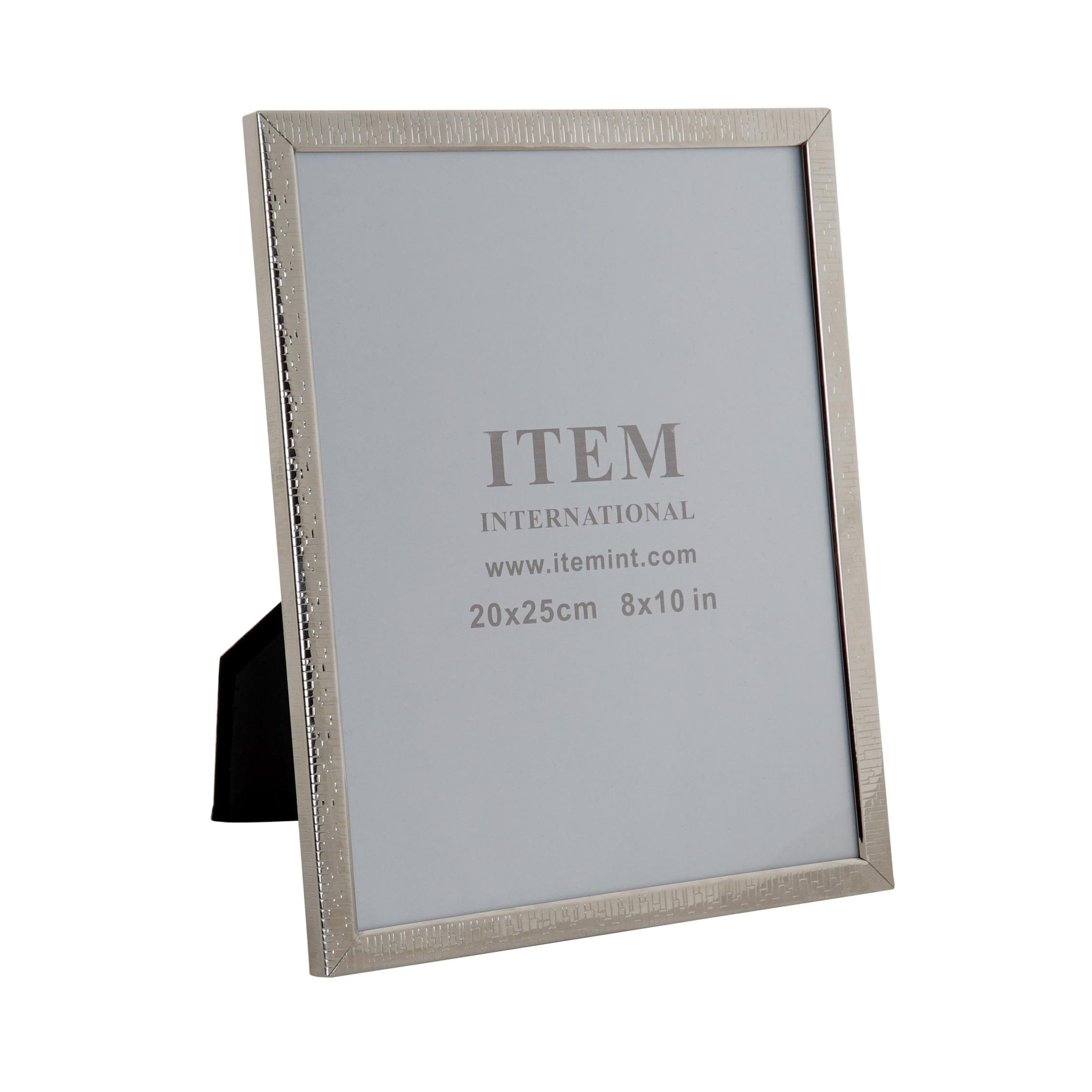 Fotolijstje zilver geschikt voor een foto van 20 x 25 cm