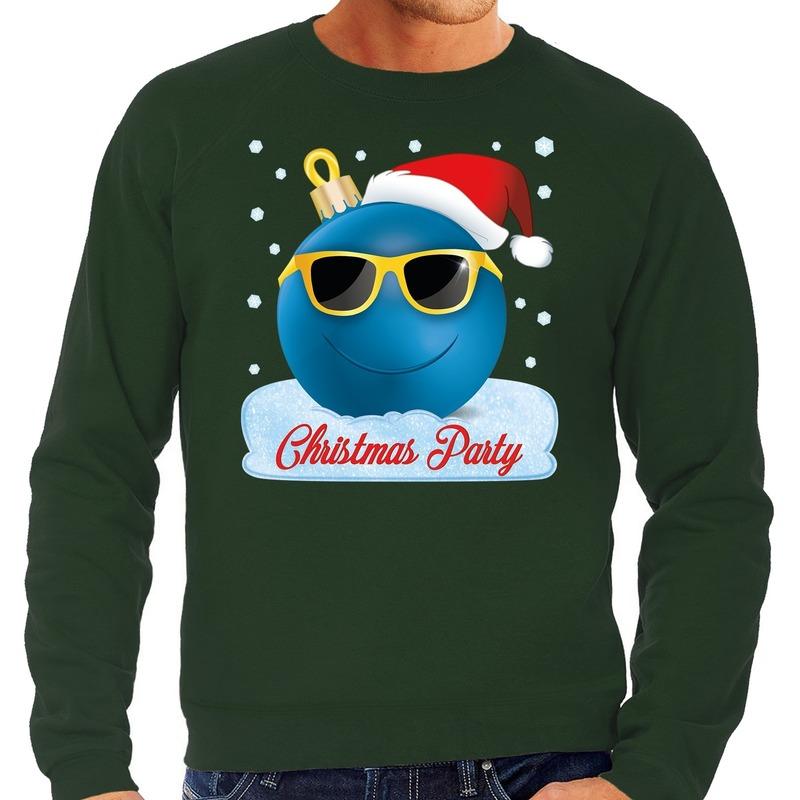 Foute kerst sweater - trui Christmas party groen voor heren