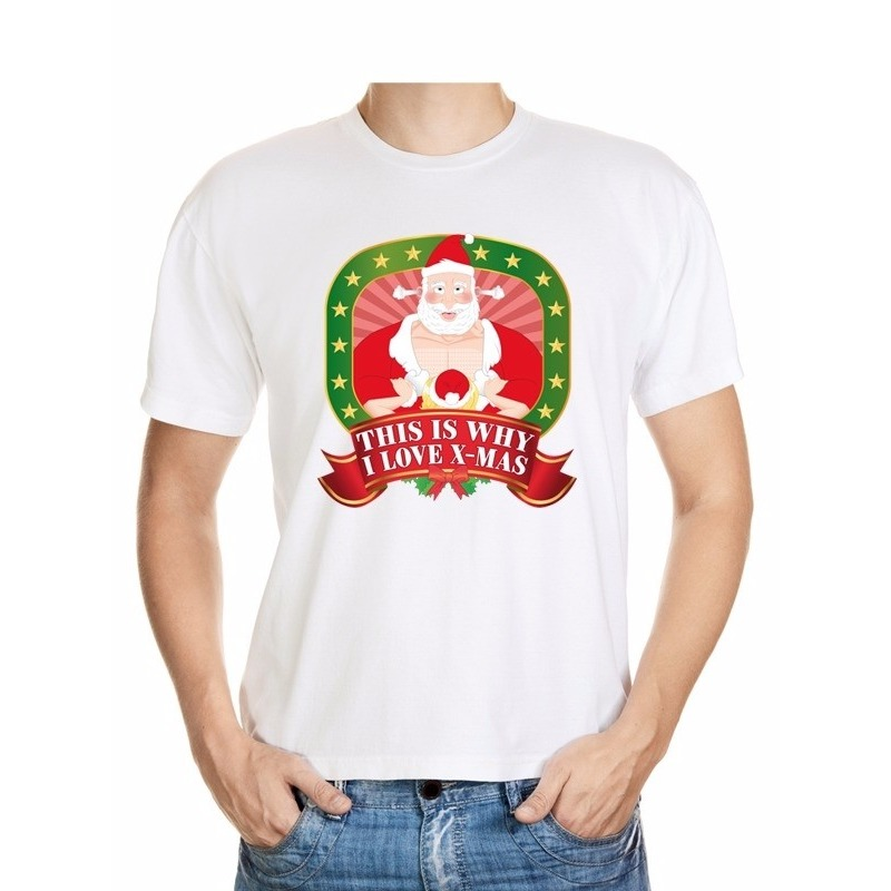 Foute Kerst t-shirt this is why I love christmas voor heren
