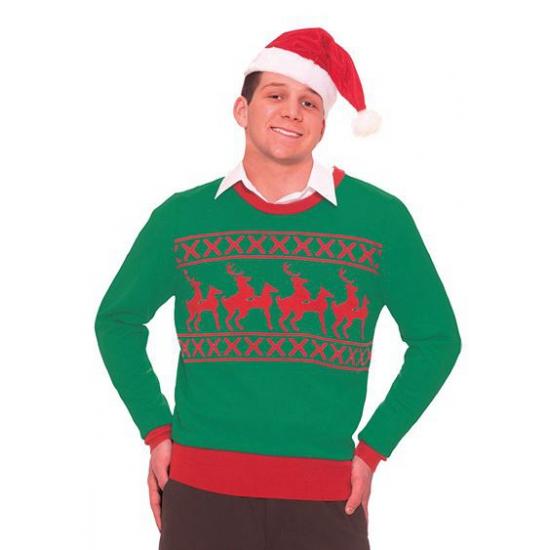 Foute kersttrui rendier L - kerst truien