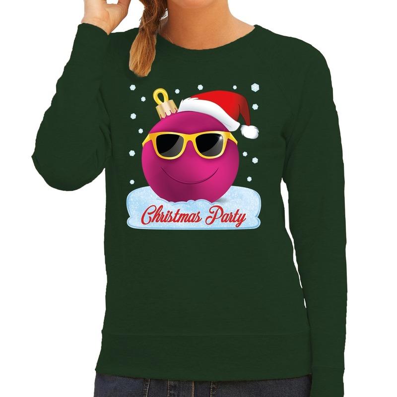 Foute kersttrui - sweater Christmas party groen voor dames