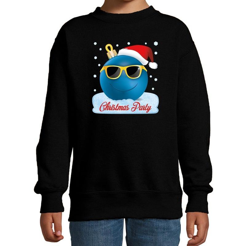 Foute kersttrui - sweater coole kerstbal zwart voor jongens