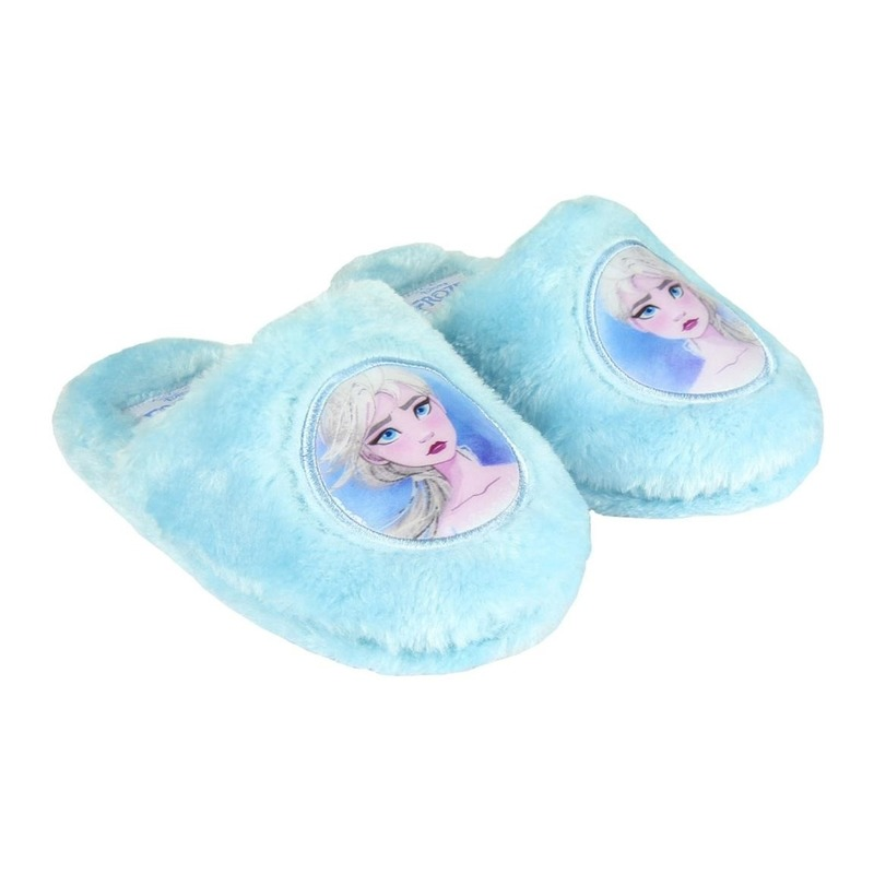 Frozen instap sloffen/pantoffels Elsa lichtblauw voor meisjes 29 -