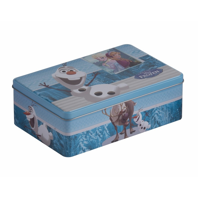 Frozen opbergdoos blauw Olaf 20 cm Blauw