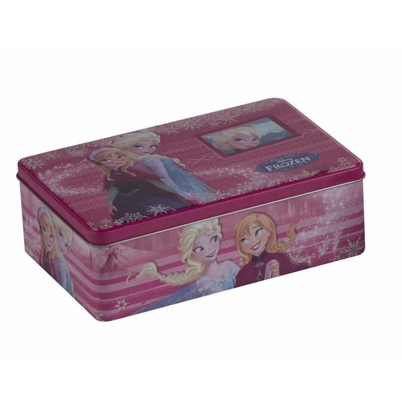 Frozen opbergdoos roze Anna en Elsa 20 cm Roze