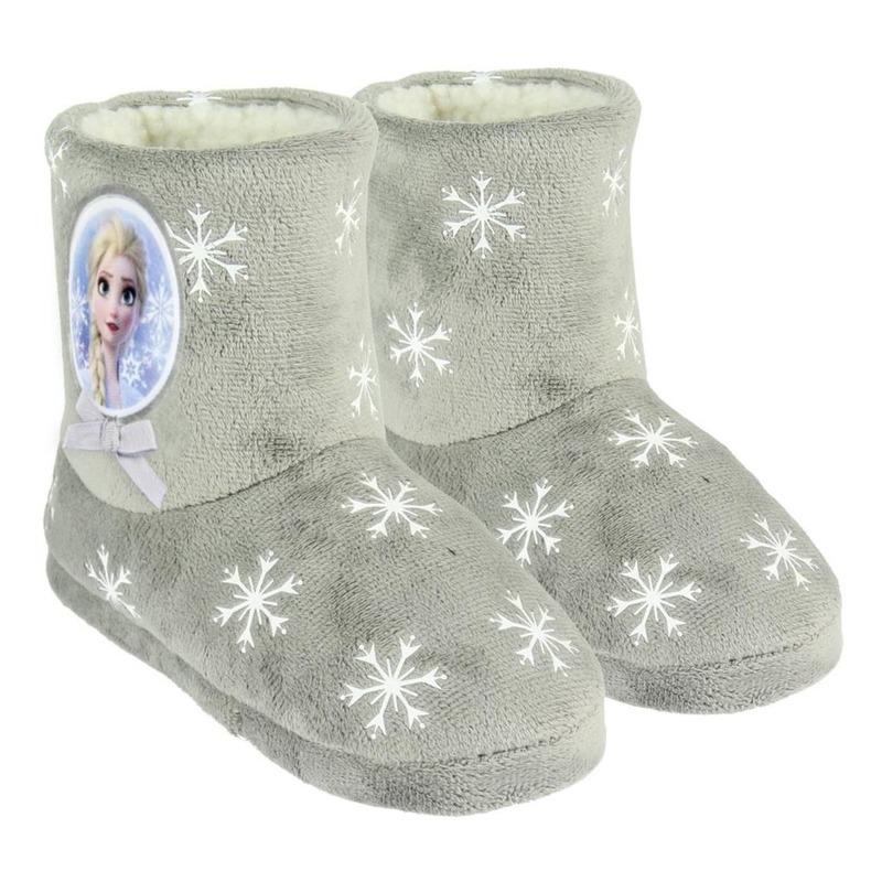 Frozen sloffen/pantoffels Elsa grijs voor meisjes 31 -