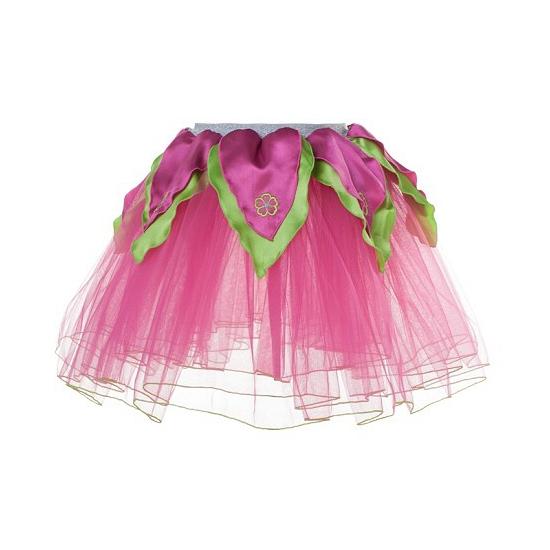 Fuchsia/groen petticoat/tutu rokje voor meiden
