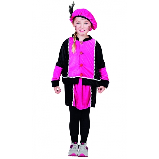 Fuchsia Pieten jurkje voor meisjes
