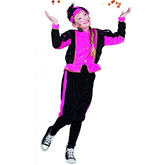 Fuchsia Pieten kostuum voor meisjes