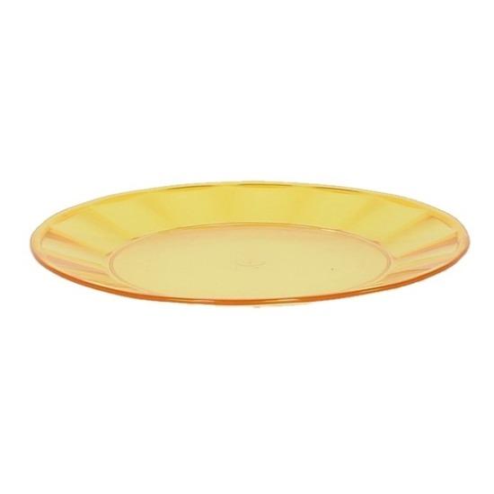 Geel plastic bord 25 cm