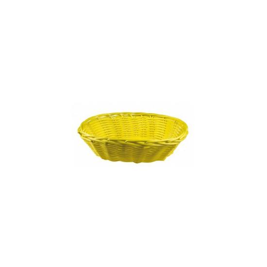 Geel rieten mandje 20 cm Geel