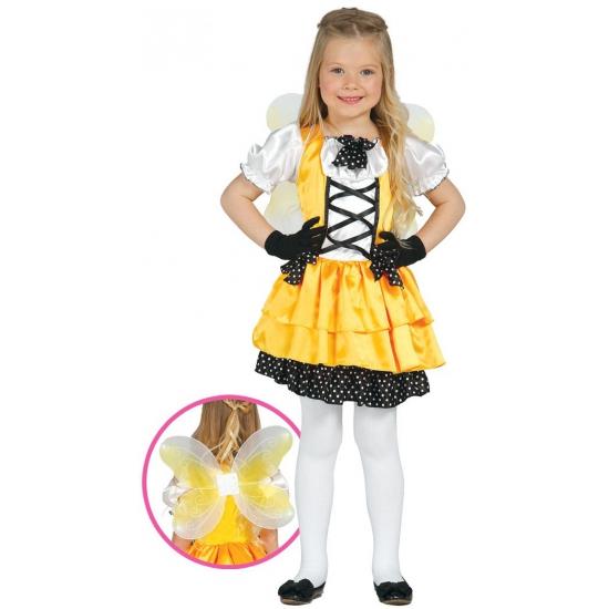 Geel vlinder kostuum voor meisjes