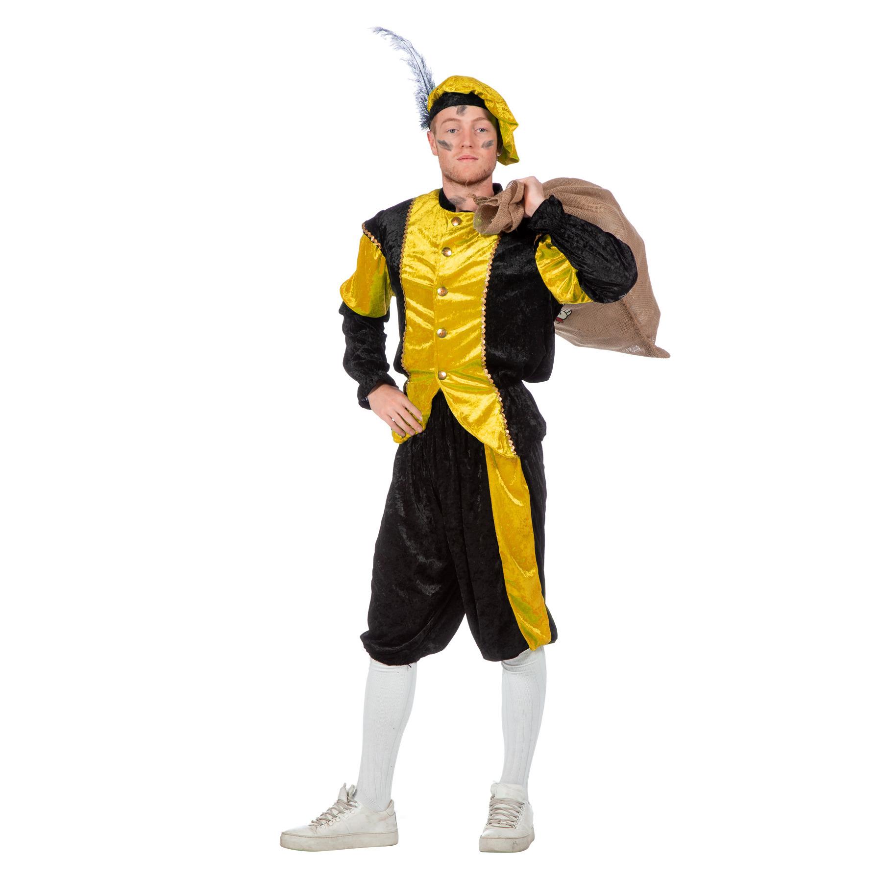 Geel/zwart pieten kostuum budget