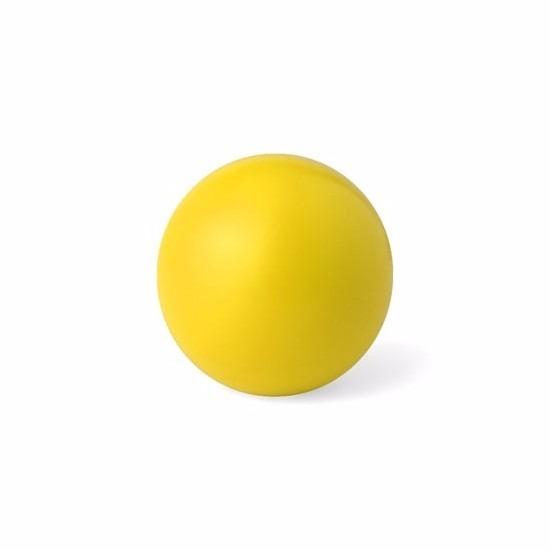Gele anti stressbal 6 cm