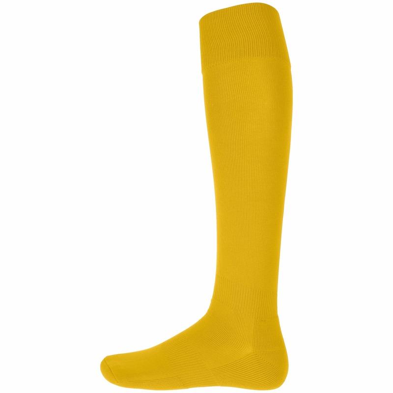 Gele hoge sportsokken voor volwassenen Geel