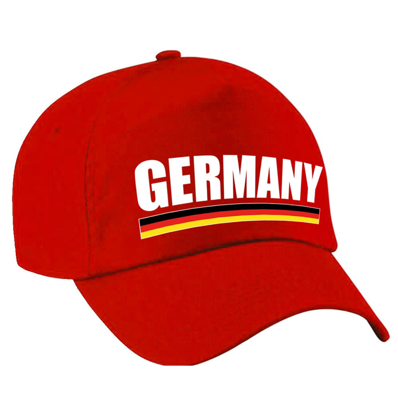 Germany supporter pet - baseball cap Duitsland rood kinderen