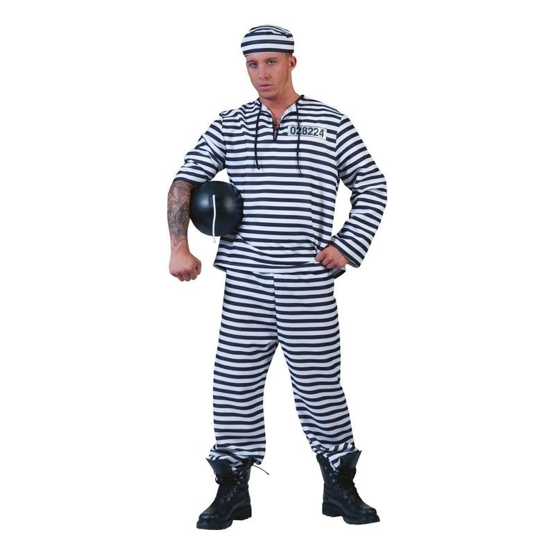 Gestreept gevangene kostuum