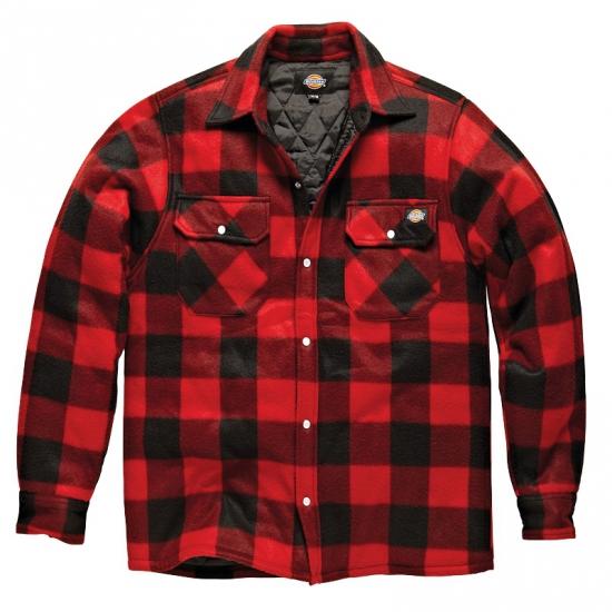 Gewatteerde houthakkers jas rood-zwart