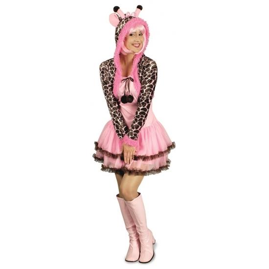 Giraffe verkleed kostuum/jurk voor dames.
