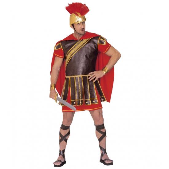 Gladiator kostuum rood-bruin heren