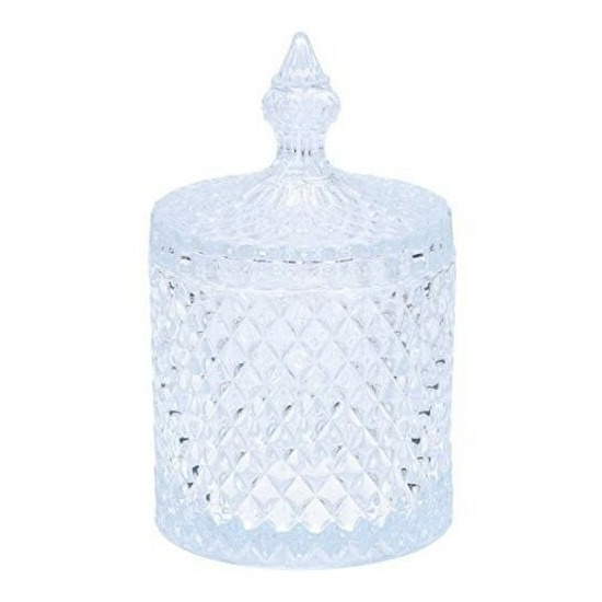 Glazen bonbonniere met deksel 19,5 cm