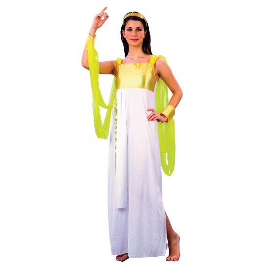 Godinnen jurk wit/goud