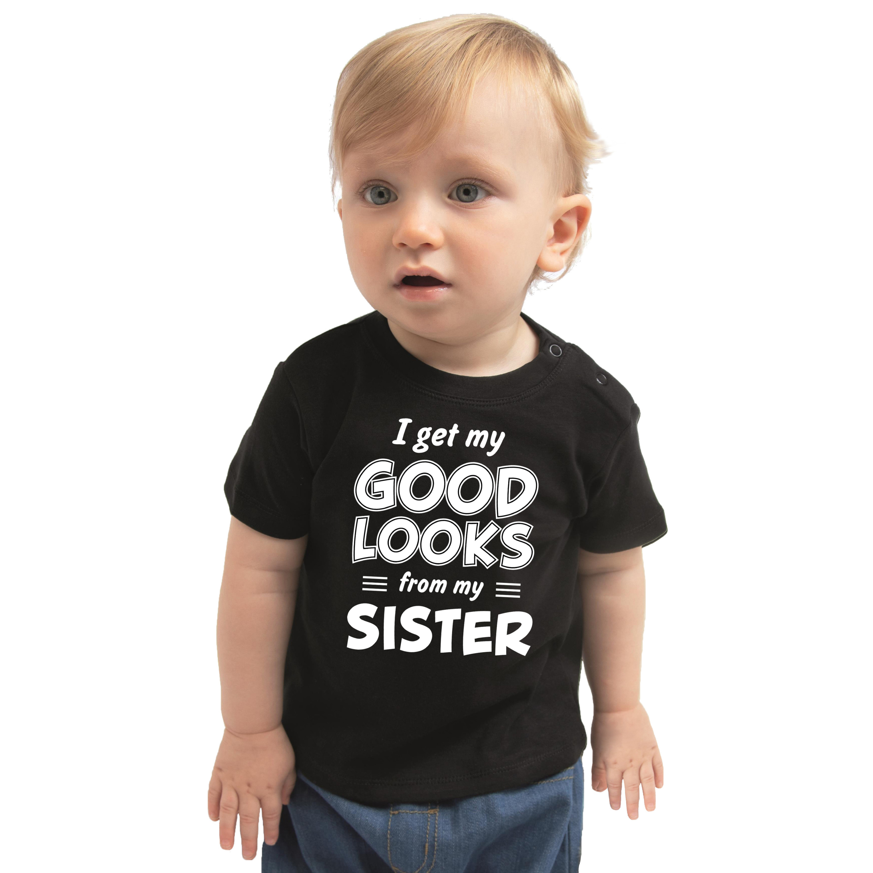 Good looks from my sister cadeau t-shirt zwart voor baby
