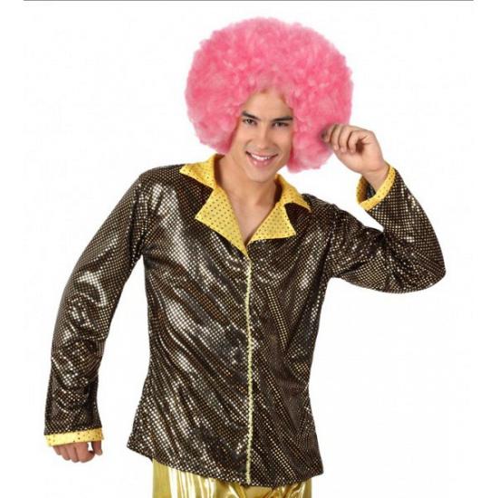 Goud disco glitter jasje voor heren