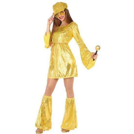 Gouden disco verkleed pak/kostuum voor dames