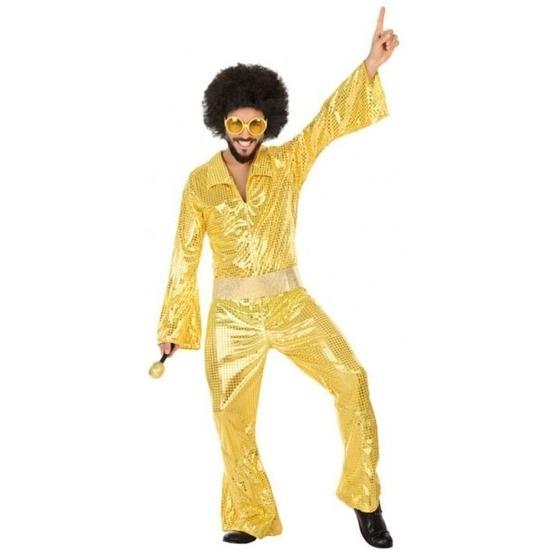 Gouden disco verkleed pak/kostuum voor heren
