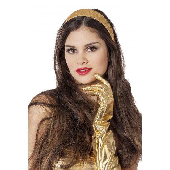 Gouden glitter diadeem/haarband