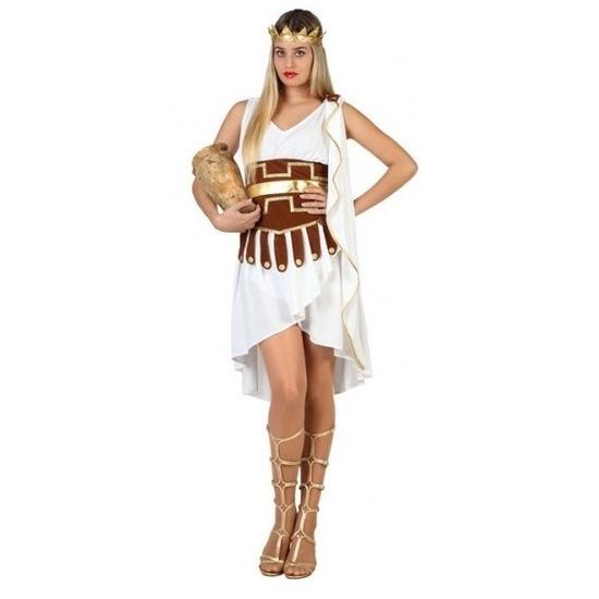 Griekse godin verkleed kostuum/jurk wit/goud voor dames