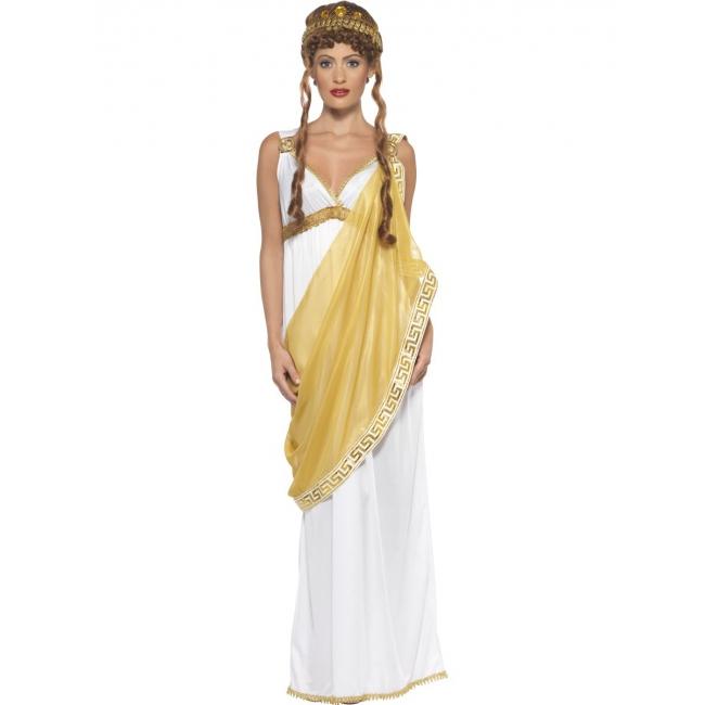 Griekse godin wit/goud verkleed kostuum/toga voor dames