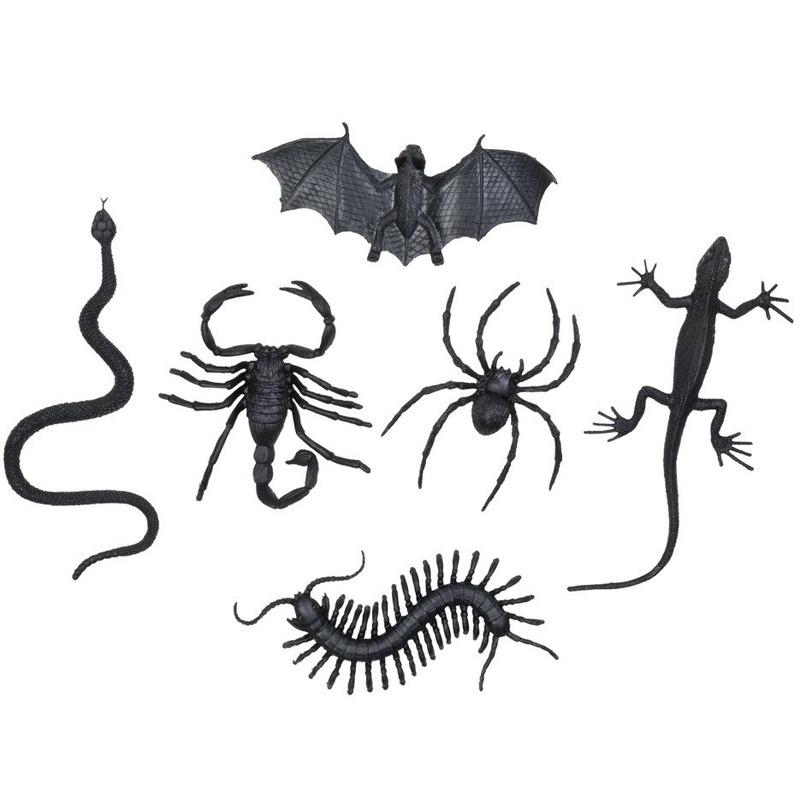 Griezel enge halloween beestjes assortiment 12x stuks