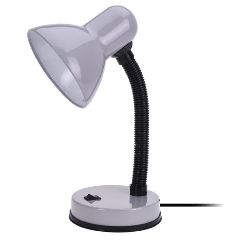 Grijze bureaulamp 33 cm