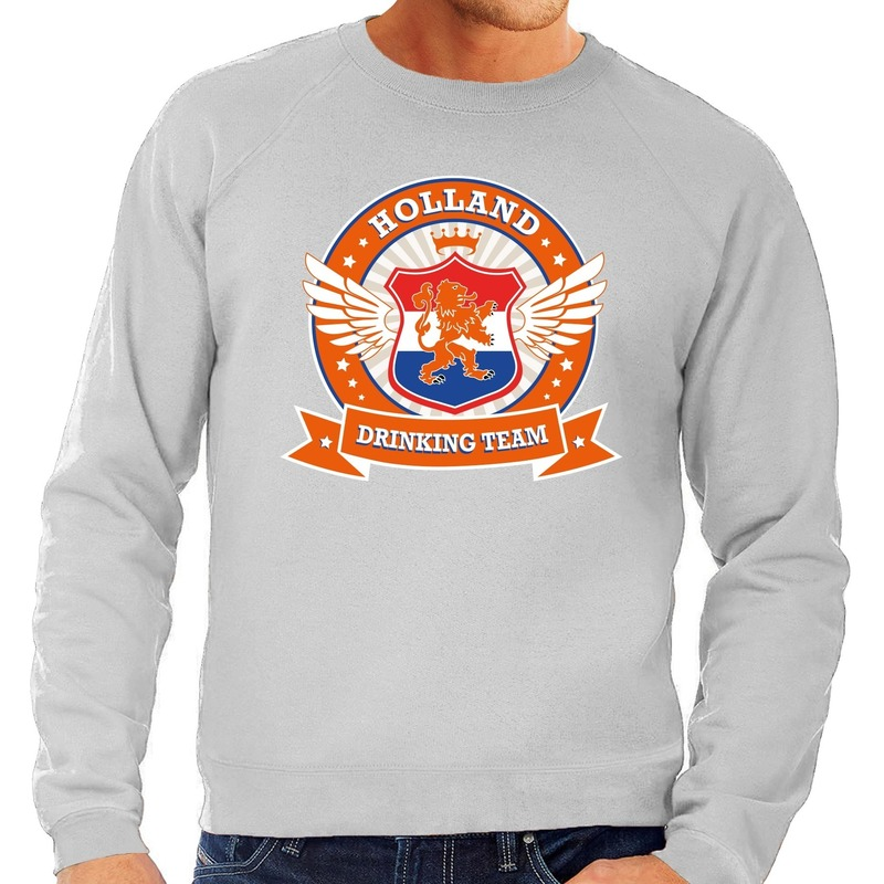 Grijze Holland drinking team sweater heren