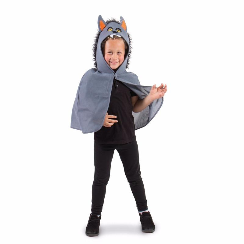 Grijze weerwolf Halloween cape voor kinderen