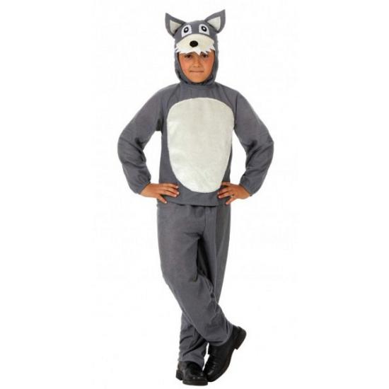 Grijze wolf kostuum voor kinderen