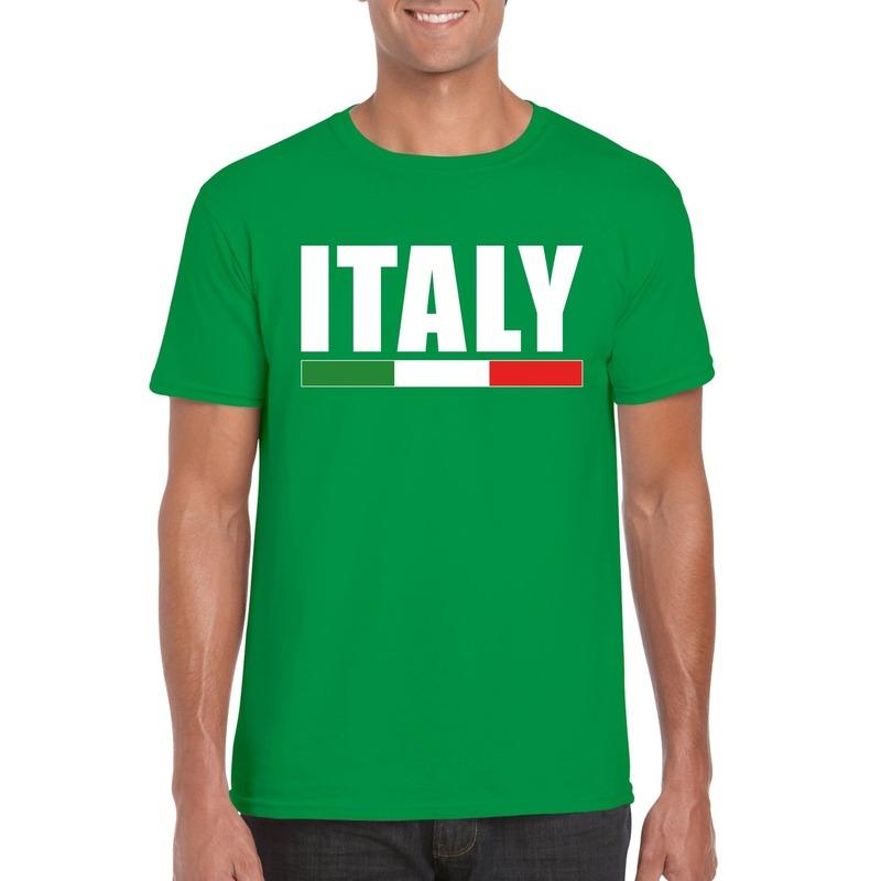 Groen Italie supporter shirt heren