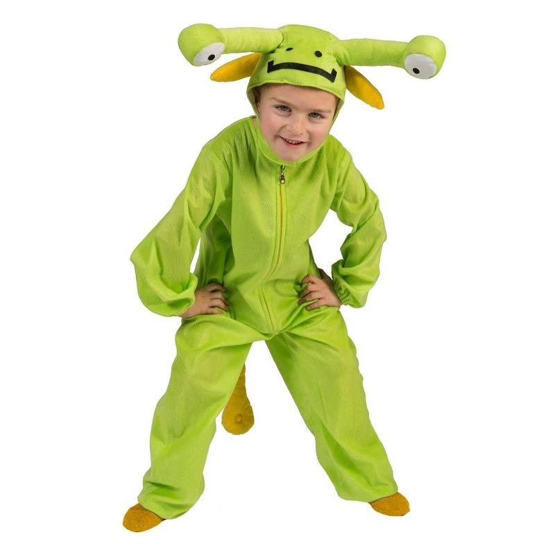 Groen marsmannetje verkleed pak voor peuters