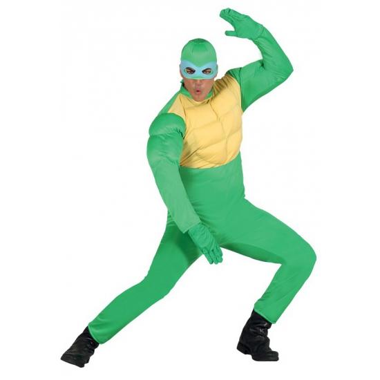 Groen ninja kostuum voor mannen