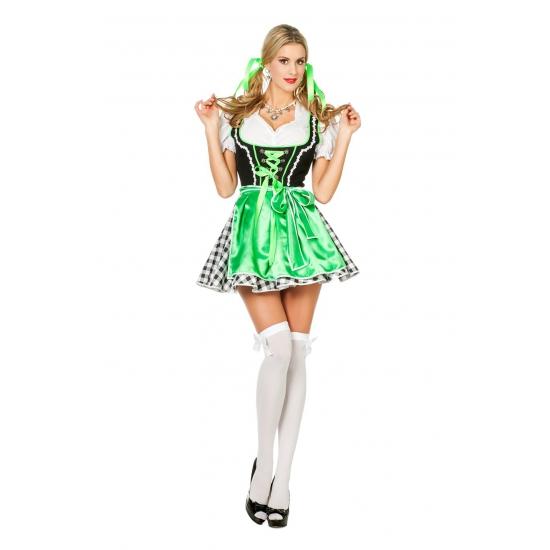 Groen oktoberfeest jurkje