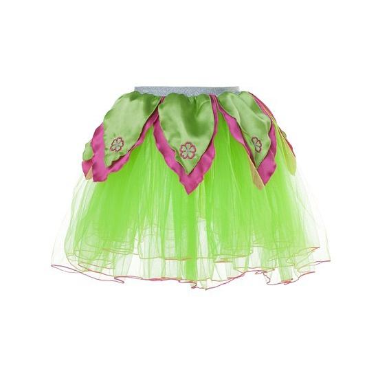 Groen/roze petticoat/tutu rokje voor meiden