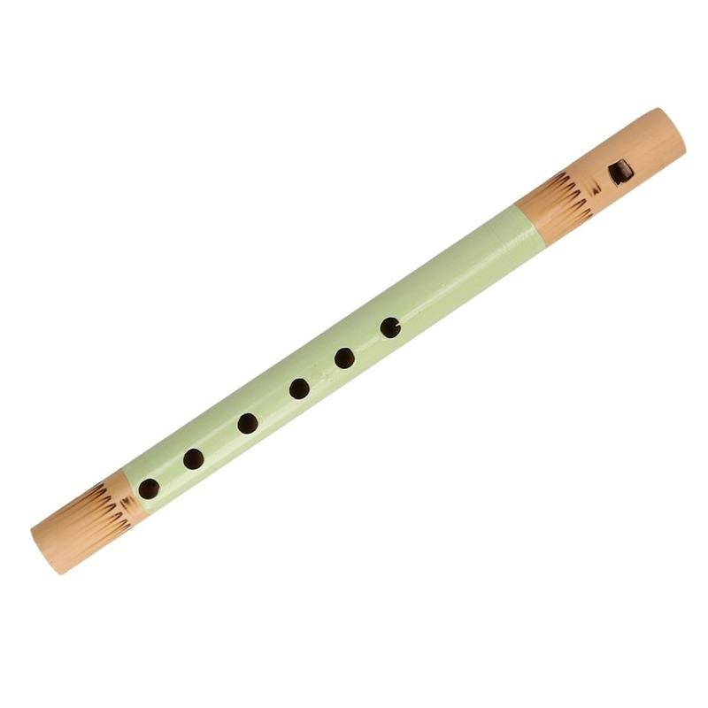 Groene fluit van bamboe 30 cm