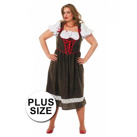 Groene grote maat Tiroler dirndl verkleed kostuum voor dames