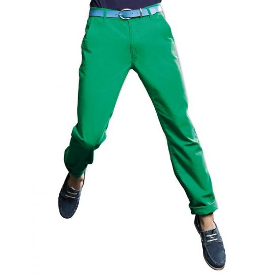 4fa8ca0c28e Groene katoenen lange broek heren - Actueel diversen - Bellatio ...