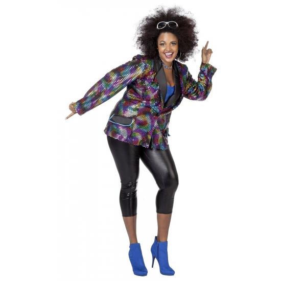 Grote maat disco jas voor vrouwen